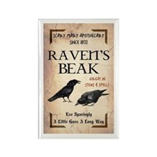 RAVEN'S BEAK Rectangle Magnet