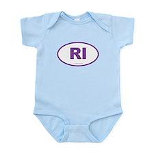Rhode Island RI Euro Oval Infant Bodysuit