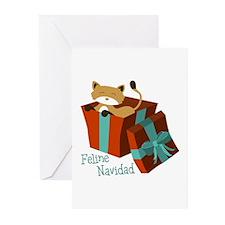 Feline Navidad Greeting Cards