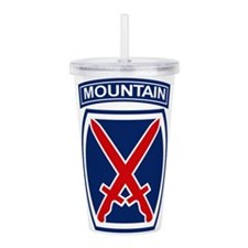 10th Mountain Division Acrylic Double-wall Tumbler