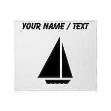 Custom Sail Boat Throw Blanket