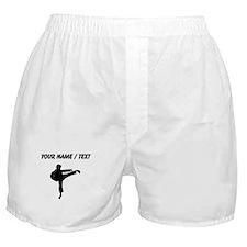 Custom Karate Kick Silhouette Boxer Shorts