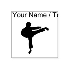 Custom Karate Kick Silhouette Sticker