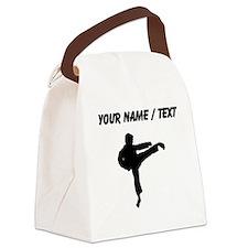 Custom Karate Kick Silhouette Canvas Lunch Bag