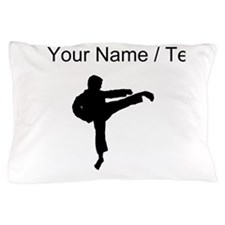Custom Karate Kick Silhouette Pillow Case