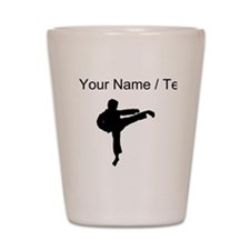 Custom Karate Kick Silhouette Shot Glass