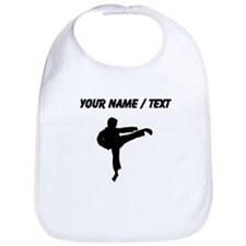 Custom Karate Kick Silhouette Bib