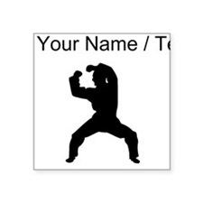 Custom Martial Artist Silhouette Sticker