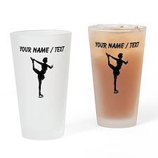 Custom Figure Skate Silhouette Drinking Glass