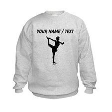 Custom Figure Skate Silhouette Sweatshirt