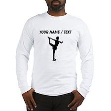 Custom Figure Skate Silhouette Long Sleeve T-Shirt