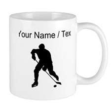Custom Hockey Player Silhouette Mugs