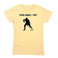 Custom Hockey Player Silhouette Girl's Tee