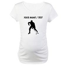 Custom Hockey Player Silhouette Shirt