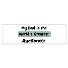 Worlds Greatest Auctioneer Bumper Car Sticker