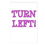 Turn Left!! Postcards (Package of 8)