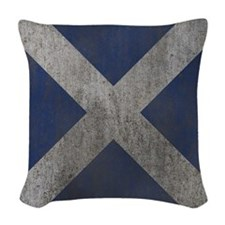 Scotland Independence Flag Woven Throw Pillow