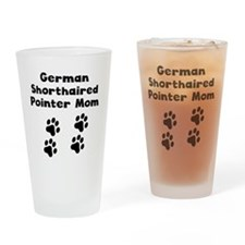 German Shorthaired Pointer Mom Drinking Glass