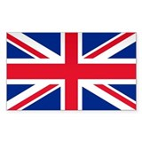 Britain Flag Rectangle  Aufkleber