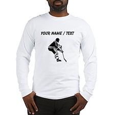 Custom Hockey Player Long Sleeve T-Shirt