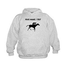 Custom Horse Racing Silhouette Hoodie