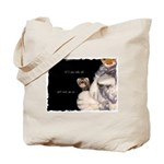 Ferret Hiding Tote Bag