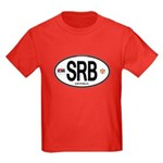 Serbia Intl Oval Kids Dark T-Shirt