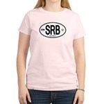 Serbia Intl Oval Women's Light T-Shirt