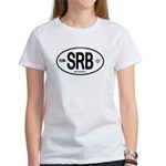 Serbia Intl Oval Women's T-Shirt