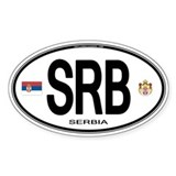 Serbia Euro Oval Oval Decal