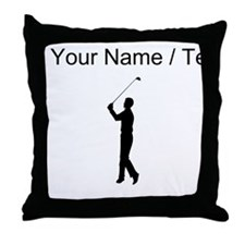 Custom Golfer Throw Pillow