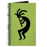 Green Kokopelli Gift Journal