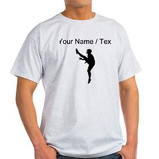 Custom Football Punter Silhouette T-Shirt