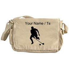 Custom Field Hockey Player Silhouette Messenger Ba