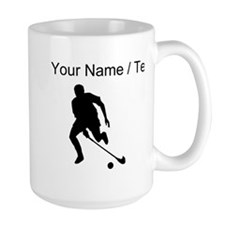 Custom Field Hockey Player Silhouette Mugs