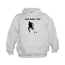 Custom Field Hockey Player Silhouette Hoodie