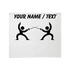 Custom Fencing Throw Blanket