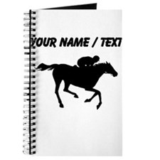 Custom Horse Racing Silhouette Journal