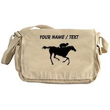 Custom Horse Racing Silhouette Messenger Bag