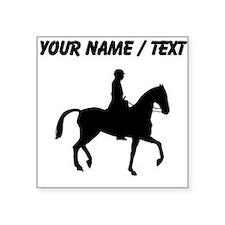 Custom Equestrian Horse Silhouette Sticker