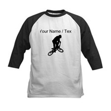 Custom BMX Biker Silhouette Baseball Jersey
