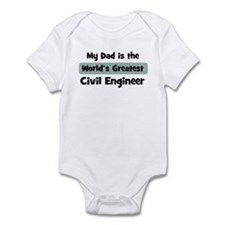 Worlds Greatest Civil Enginee Infant Bodysuit