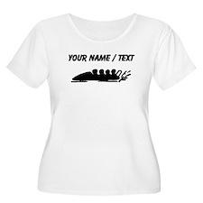 Custom Bobsledding Plus Size T-Shirt