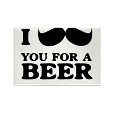 I mustache you for a beer Magnets