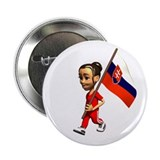 "Slovakia Girl 2.25"" Button (10 pack)"