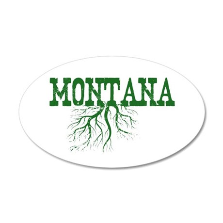 Montana Roots 20x12 Oval Wall Decal