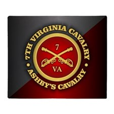 CSC-7th Virginia Cavalry Throw Blanket