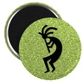 Green Kokopelli Magnet