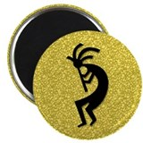 Gold Kokopelli Magnet