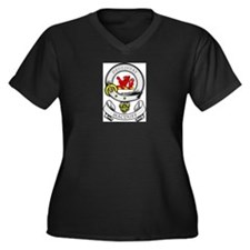 MACDUFF Coat of Arms Women's Plus Size V-Neck Dark